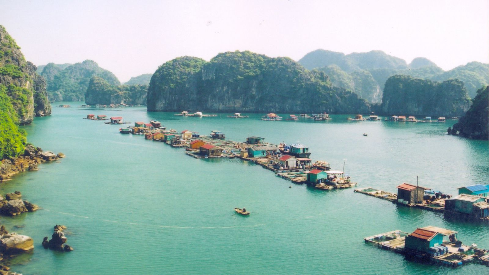 Only Ha Long Bay, Vietnam has a surprisingly beautiful Lan Ha Bay
