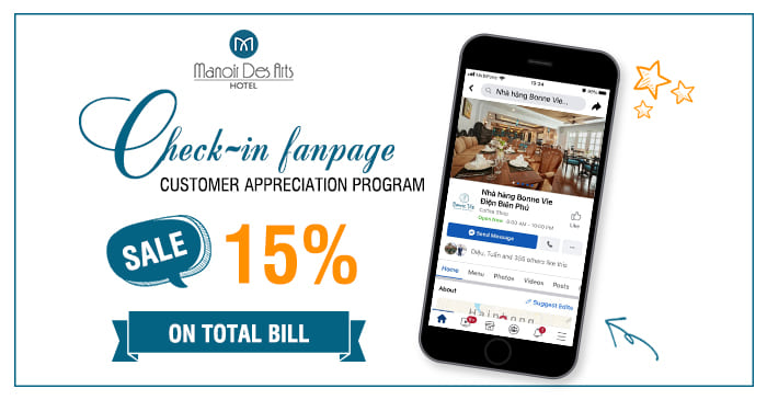 CUSTOMER APPRECIATION PROGRAM - ENJOY 15% DISCOUNT ON TOTAL BILL